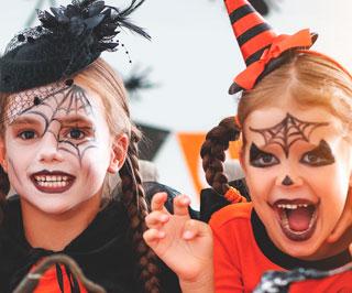 halloween ansiktsmålning barn